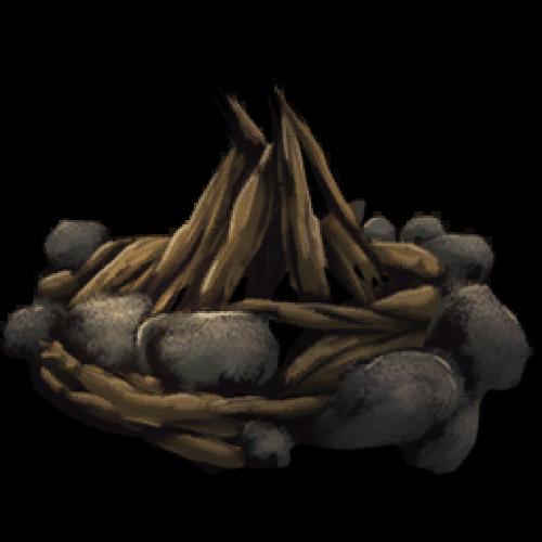 Как и из чего сделать костер Campfire