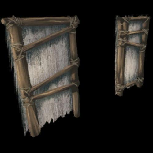 Соломенная дверная коробка