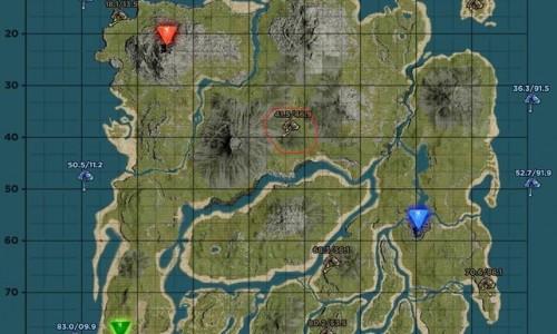 Центральная Пещера на карте. Координаты Central Cave