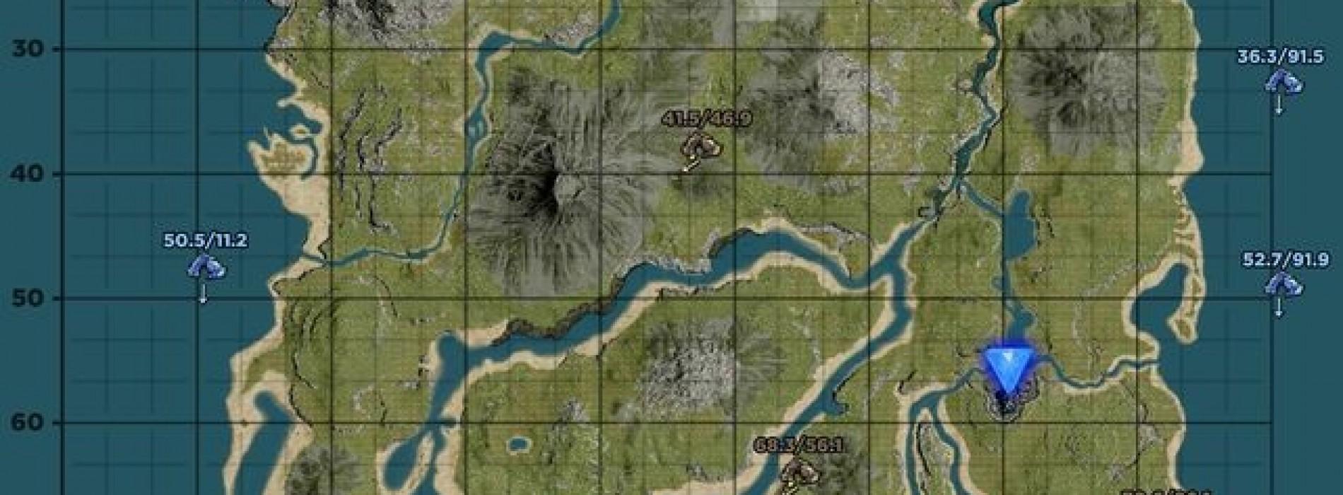 Нижняя Южная Пещера на карте. Координаты Lower South Cave